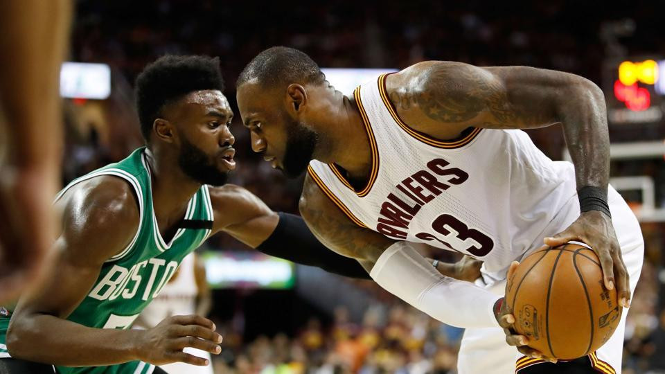 LeBron James and Jaylen Brown