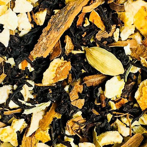Thé noir au coin du feu