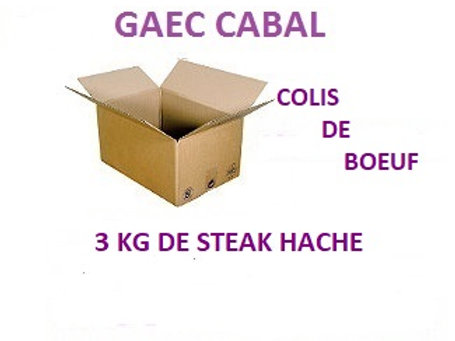 colis de steak hache de boeuf