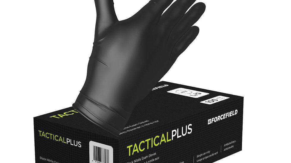 Tactical Plus Black Nitrile Gloves