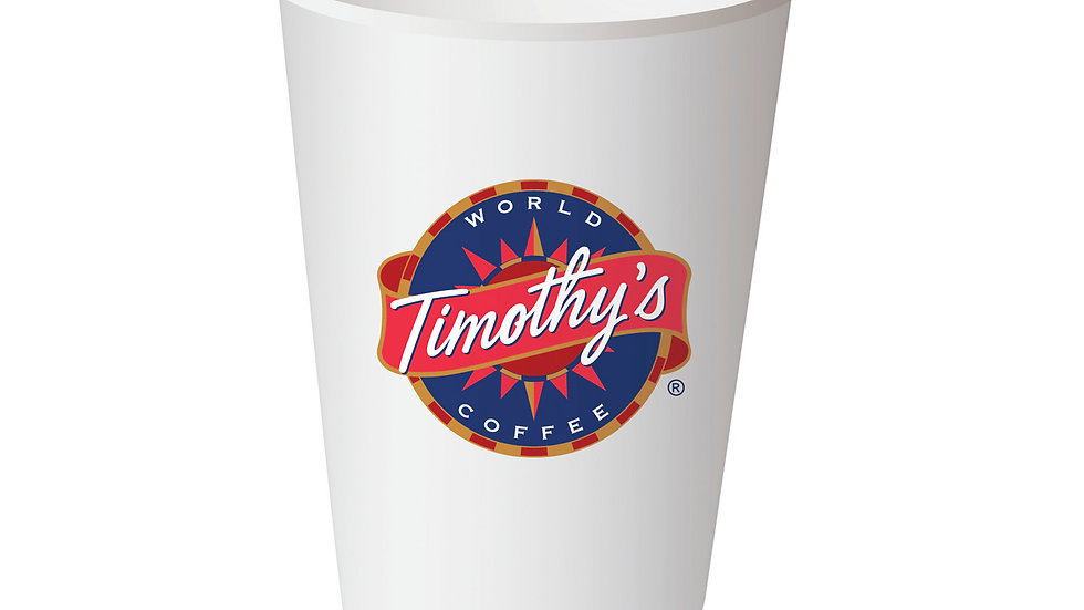 Timothy's 12oz Paper Cup