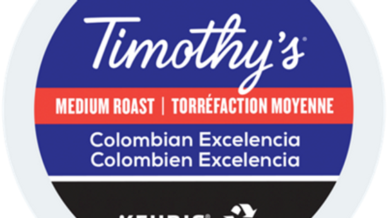 Timothy's Colombian Excelencia K-cups 24/box