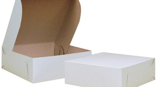 10 x 10 x 3.5 White Clay Coated Box