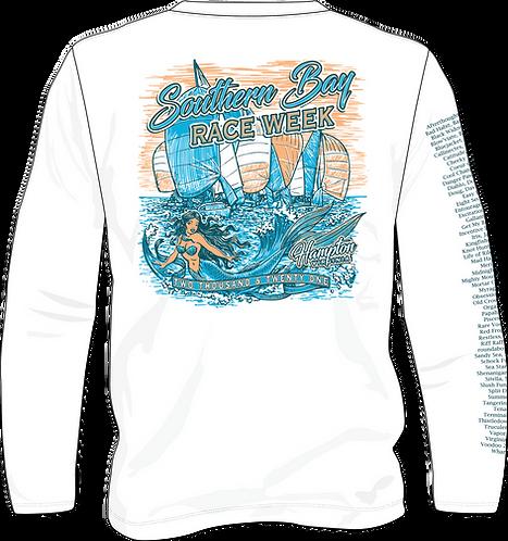 White - Boat Shirt -Long Sleeve Wicking - SBRW 2021