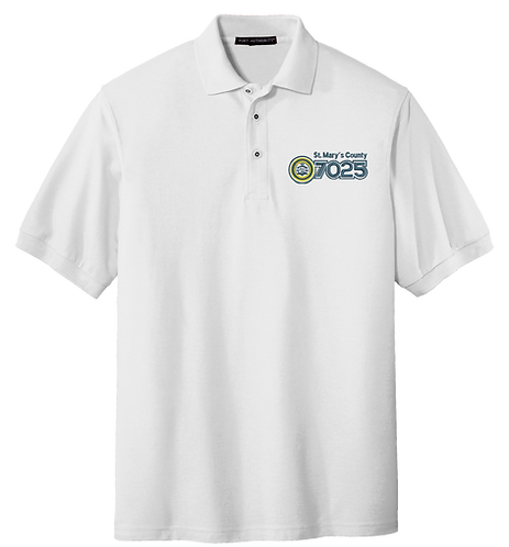 White Polo Shirt - NAACP 7025