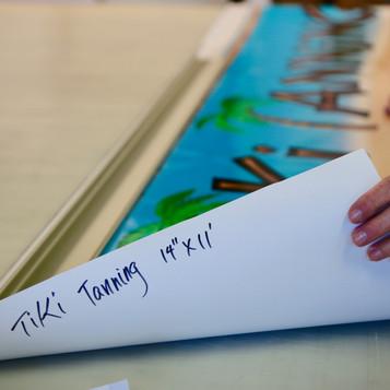 Tiki Tanning Banner