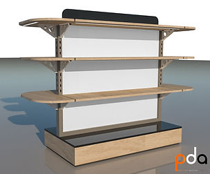 short floorstand-with shelves