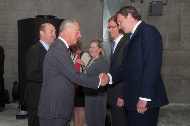 Prince of Wales visits first Welsh Local Authority developed Anaerobic Digestion plant
