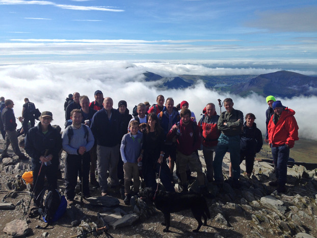 Iona joins Biogen for Snowdon walk in support of Gwynedd good causes