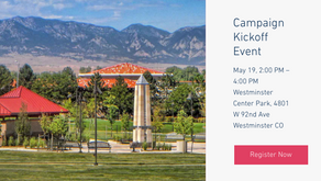 May 19th 2-4 pm. Campaign Kickoff Event!