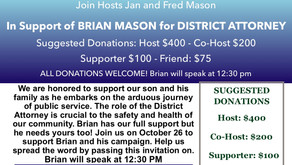 Fundraiser at Jan & Fred Mason's Home