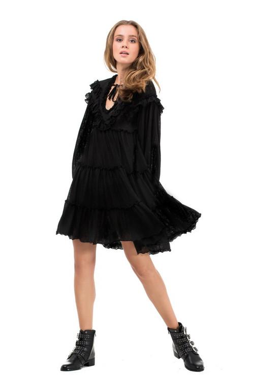 dress ruffles