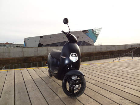 Electric Scooter at The Deep in Hull