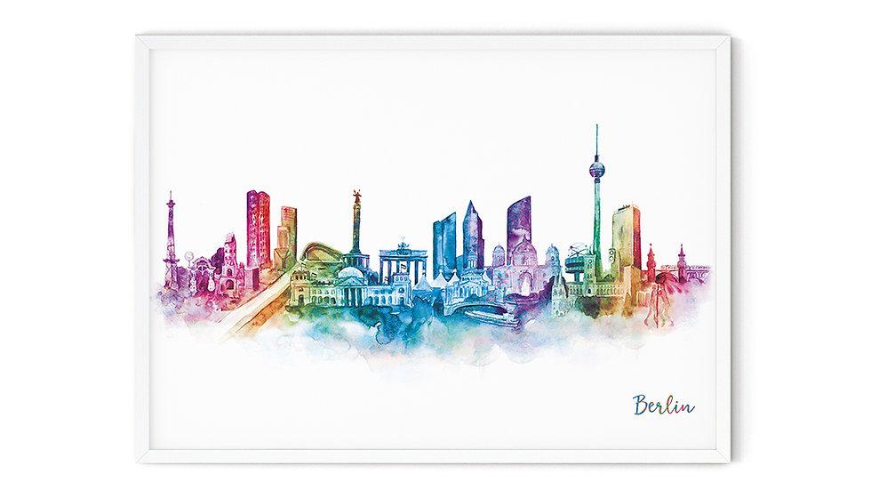 Water colour Print Berlin A5