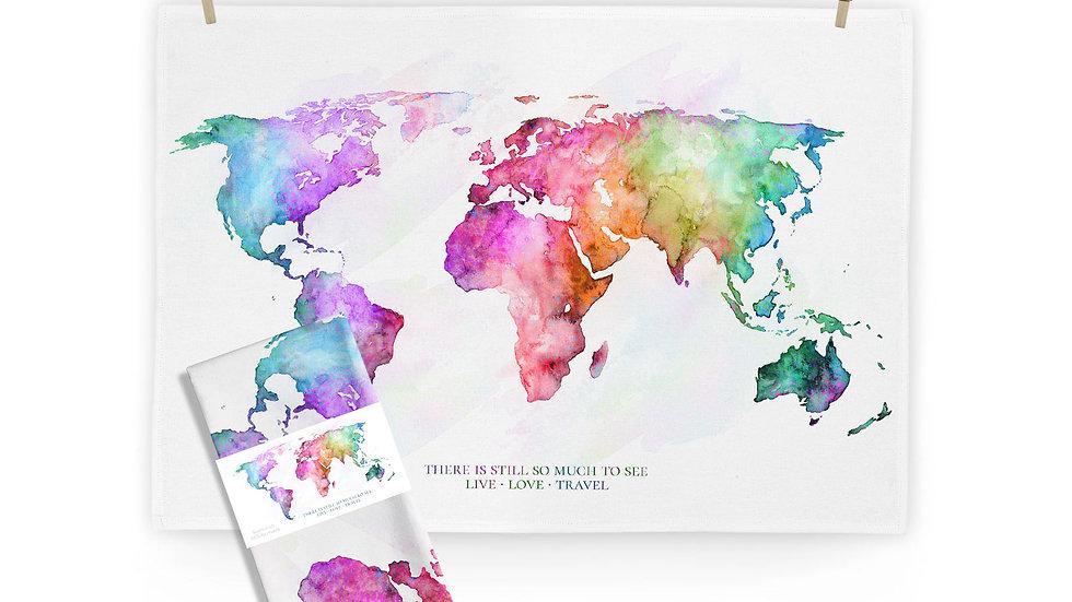 Kitchen Towel Hello World - Rainbow