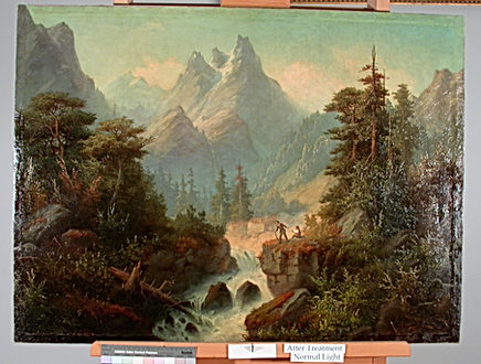 19th Century American, Unknown Artist, painting treatment