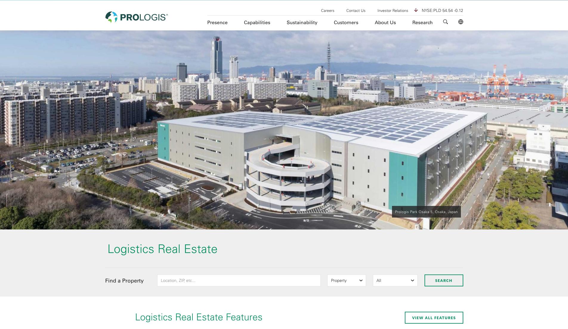 Prologis Website 2017