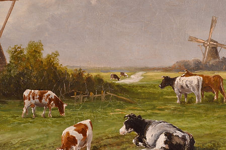 F.Keus, Dutch, ca. 1915, painting treatment