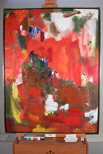 Hans Hofmann, painting treatment