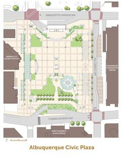 Civic Plaza map - color