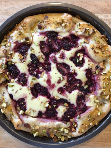 Blackberry lime cheescake galette