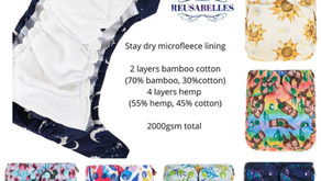 Reusabelles AIO in the NEW  Summer Lovin' Prints