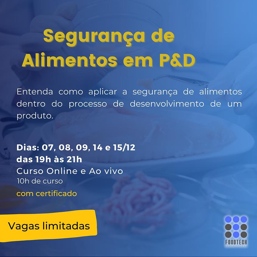 CURSO - Segurança de Alimentos em P&D