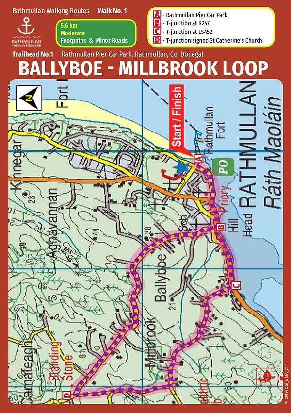 Ballyboe Millbrook road trail route card