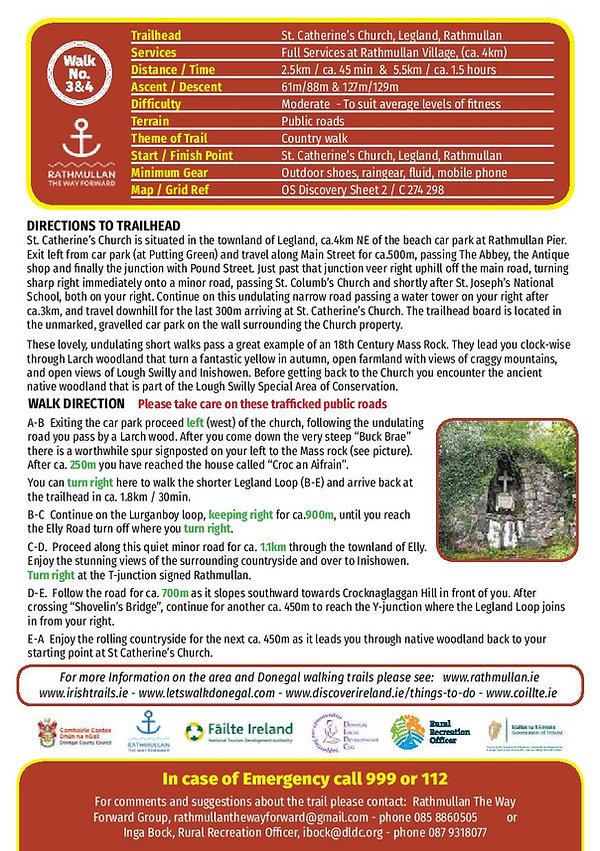 Rathmullan Legland road trail route card