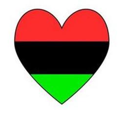 Red Blk Green Heart