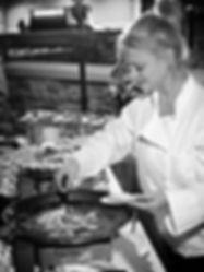 Chef Emily Preparing Sizzling Shrimp