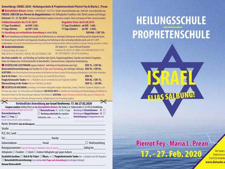 Israel 2020 - Heilungs-/ Prophetenschule mit Pierrot Fey & Maria Prean