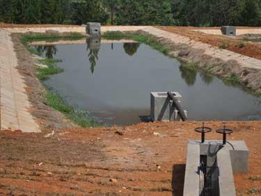 Abwassersystem mit Lagunen