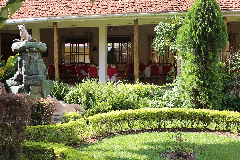 Grüner Innenbereich des Restaurants