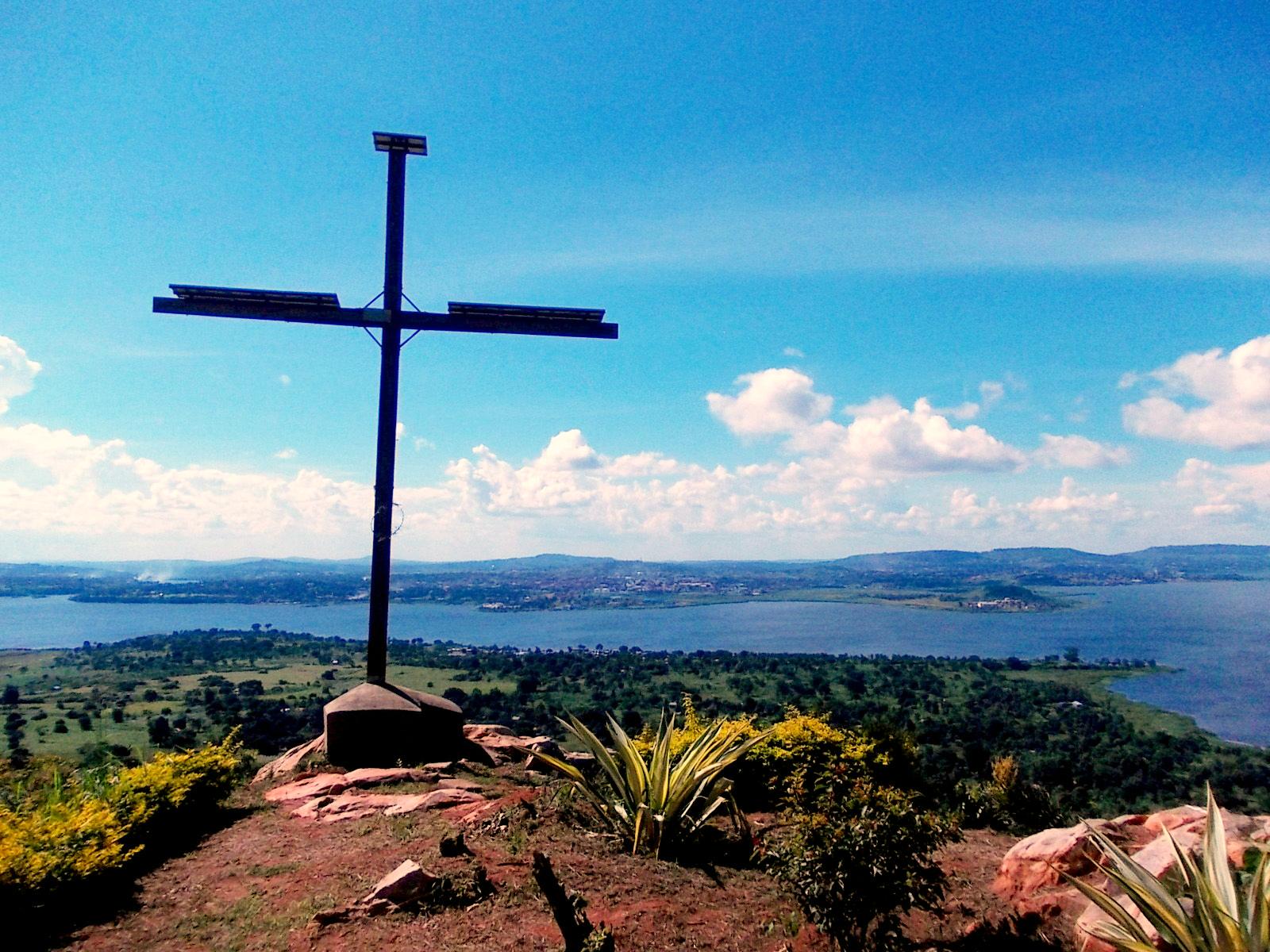 Der Blick vom Kreuz hinunter