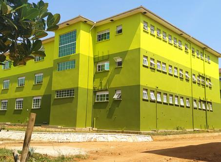 Baufortschritt an der Sekundarschule Nakifuma