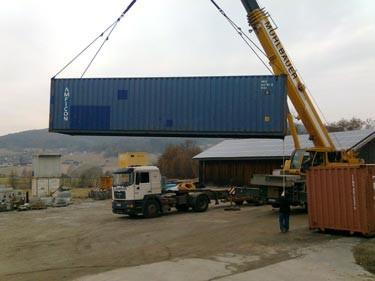 Der nächste Container geht auf die Reise