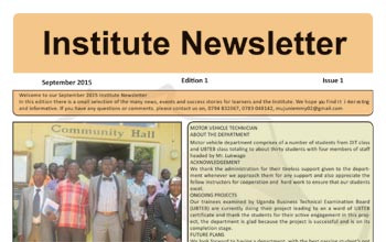 "Newsletter of our ""Vocational Training Institute"""