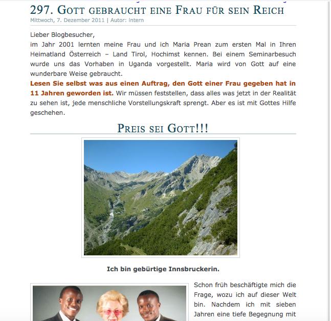 Martin Tremls Bericht auf www.gott-ist-gut.com