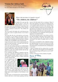 Article about Maria in a Ugandan magazine