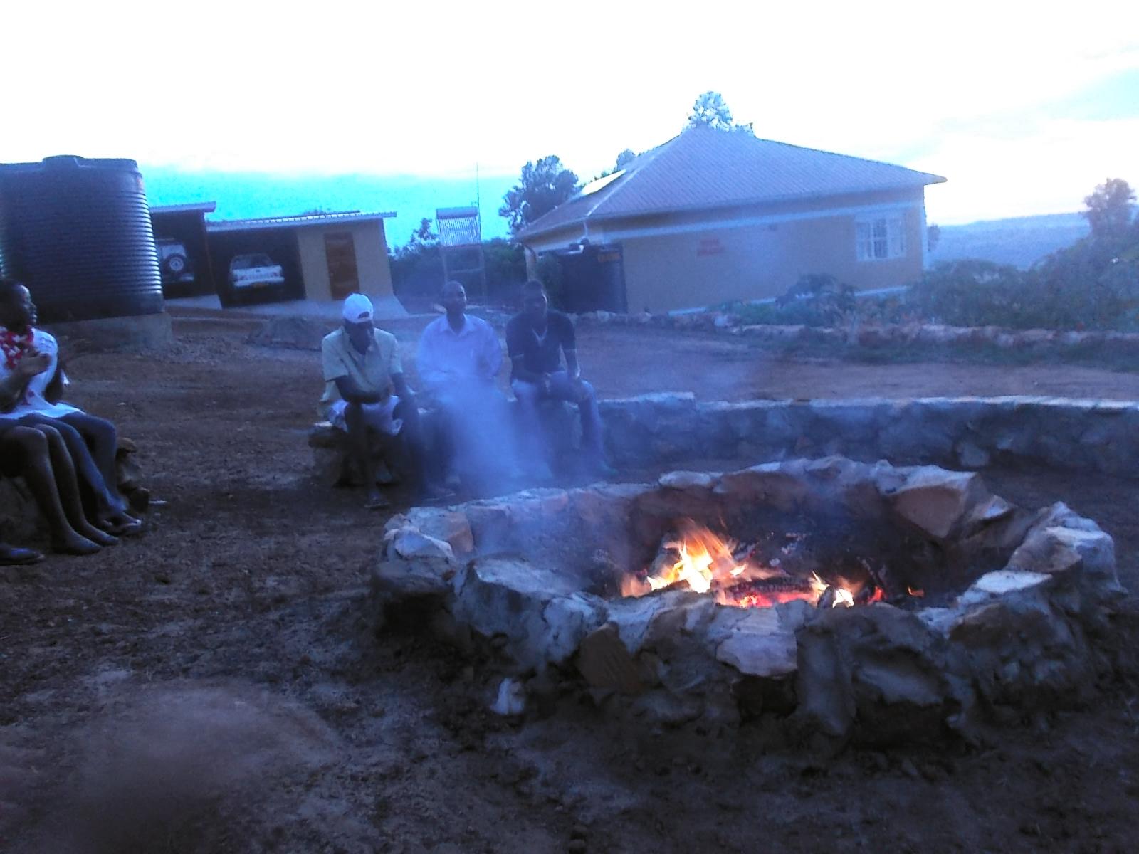 Lagerfeuer auf dem Prayermountain