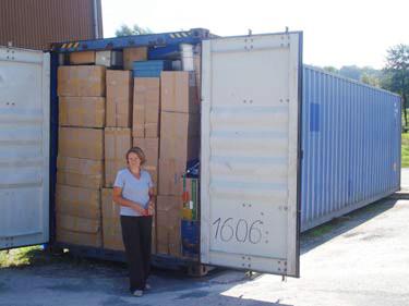 Zweiter Container abgeschickt