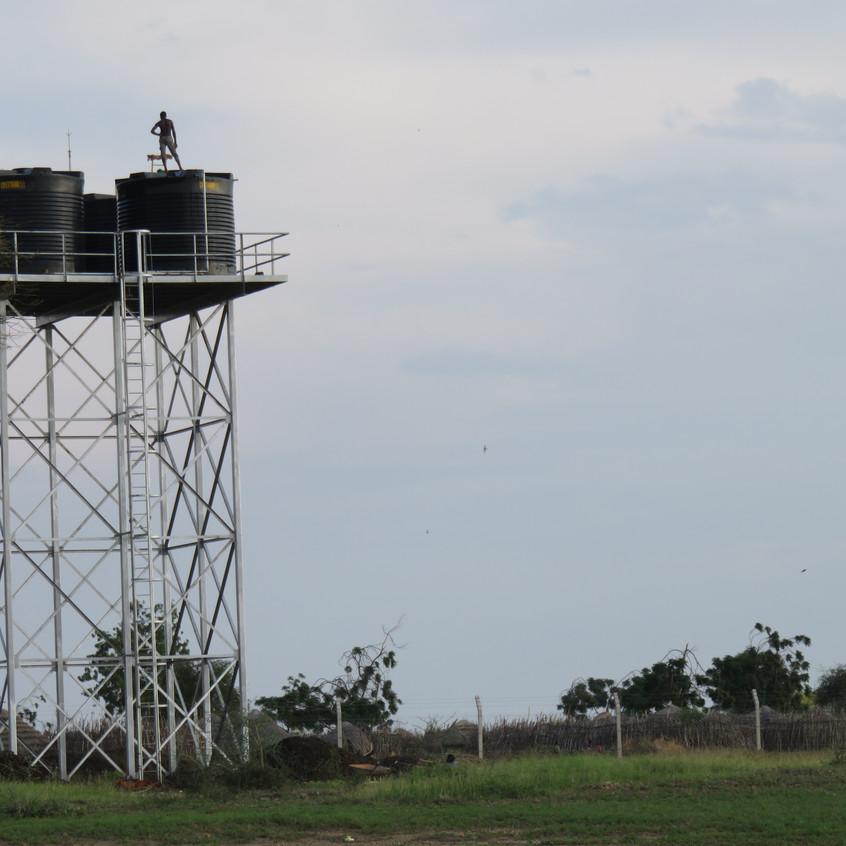 Der fertige Wasserturm mit gutem Ausblick