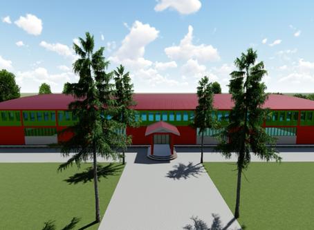 Gemeinschaftshalle für die Mittelschule Nakifuma