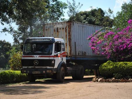 Ein Container angekommen