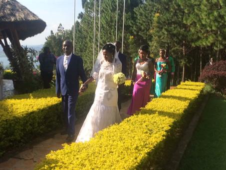 First wedding of blind couple, first wedding in Kikondo church