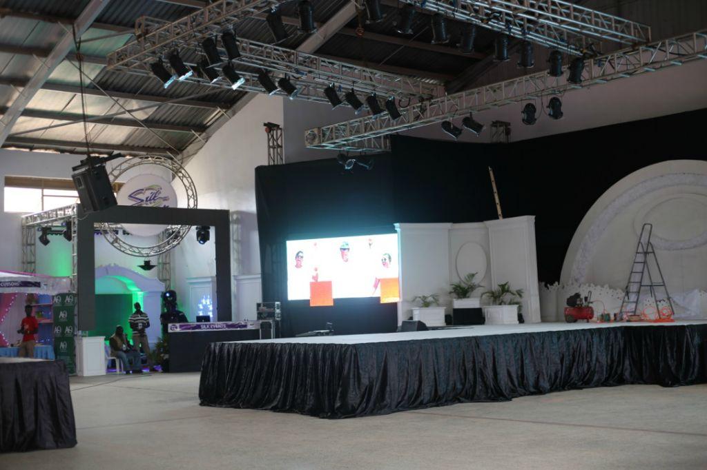 Die Bühne für die Modenshows