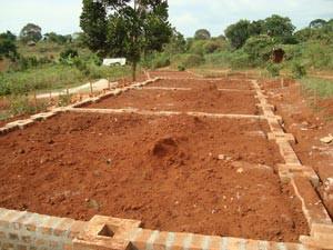 Das Fundament für die Klassenräume