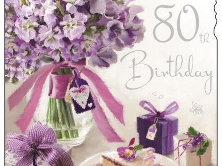Alles Gute zum 80. Geburtstag Mama Maria!