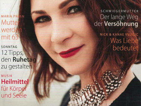 "Article about Maria Prean in the german magazine ""Lydia"""